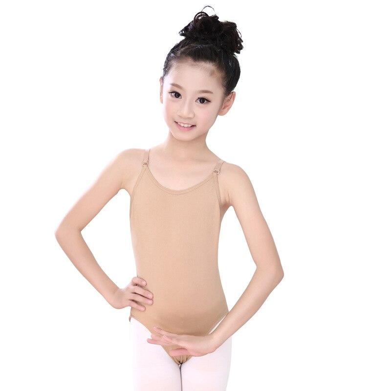 Girls Seamless Camisole Undergarment Ballet Leotard With Adjustable Straps Dance Leotard Kids Body Gymnastics Ballerina Clothes