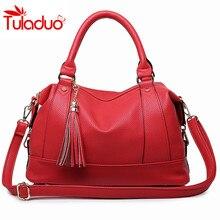 2017 Large Handbags Women Bags Fashion PU Leather Woman Shoulder Bag Casual Tassel Tote Bag Sac A Main Femme Bolsa Feminina Sac