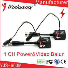 10 sets transmitter and receiver 1CH power passive video balun For CCTV Surveillance