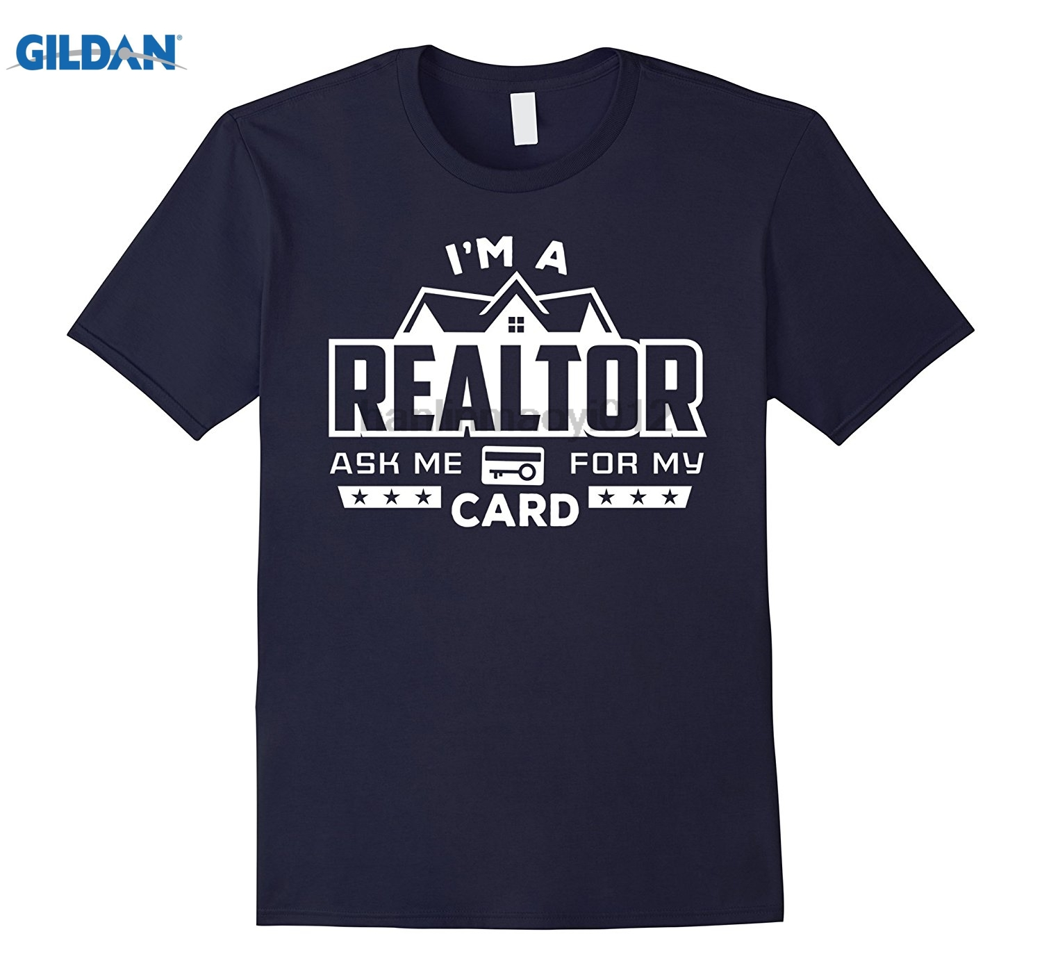 GILDAN Real estate agent Shirt Im a Realtor ask me for my card Tee Hot Womens T-shirt ...