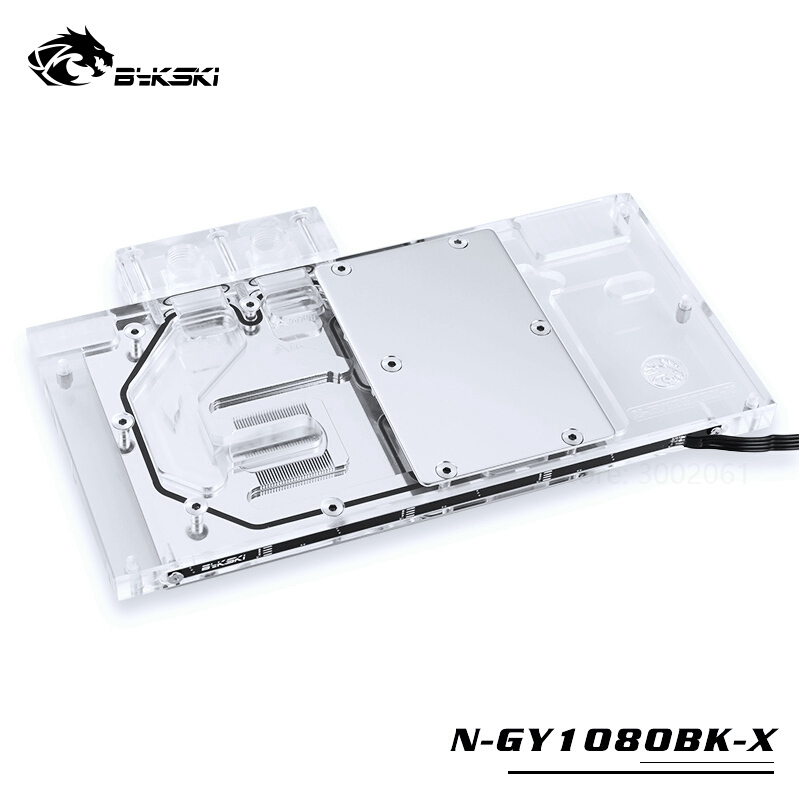 BYKSKI Water Block Use For GALAX GTX1060/1070/1070Ti/1080 EX OC GAMER / Full Cover GPU Card Copper Radiator Block KFA2 1070TI