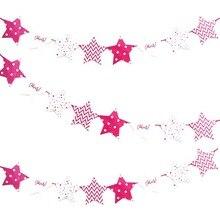 Pentagram Theme Party Supplies Children Birthday Decoration Cartoon Banner Valentines Day Christmas