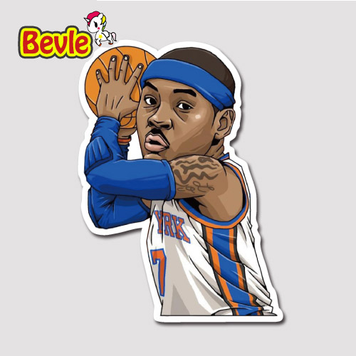 Bevle 9355 NBA Bastetball Super Star Carmelo Anthony Waterproof Stickers Laptop Luggage Car Graffiti Cartoon Sticker DIY