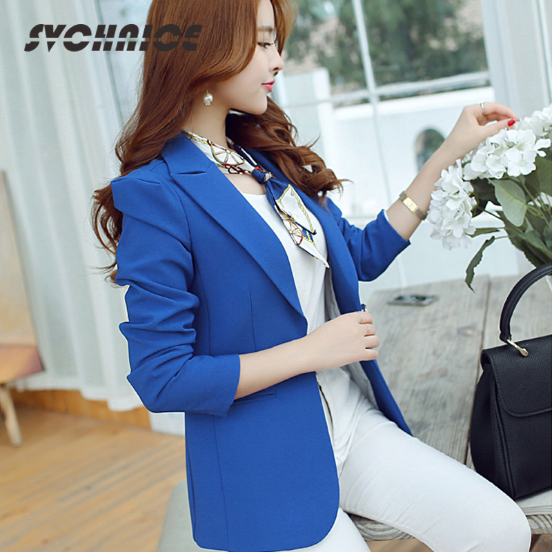 Back To Search Resultswomen's Clothing Hearty Ladies Blue Blazer 2018 Long Sleeve Blasers Womens Suit Jacket Office Female Feminine Blazer Femme Work Jacket For Women Black