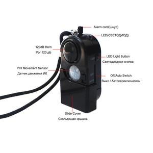 Image 3 - Topvico 3pcs Camping Travel Portable Mini PIR Infrared Motion Sensor Detector Alarm 120dB Wireless Home Security Anti theft