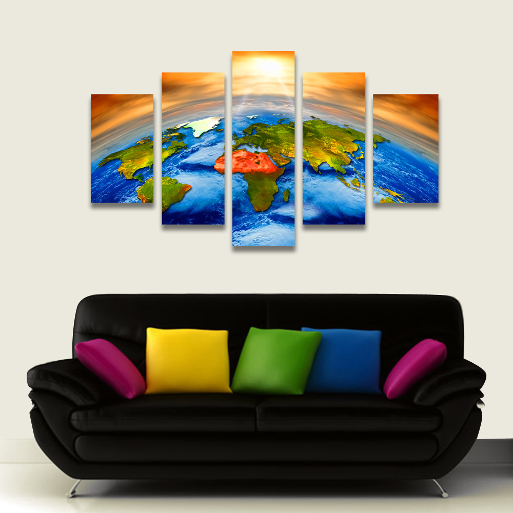 online get cheap framed wall maps aliexpress com personalized canvas print stretched canvas art decor for