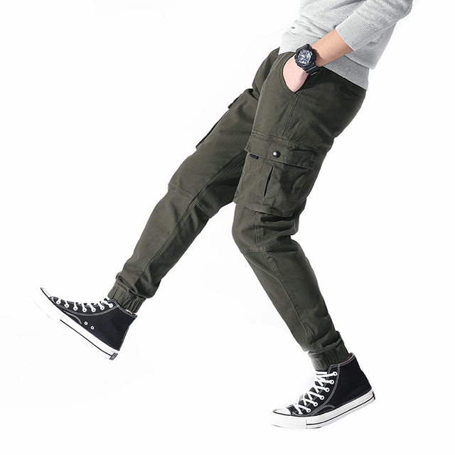 8b42ef596 2018 Mens Camouflage Tactical Cargo Pants Men Joggers Boost Military Casual  Cotton Pants Hip Hop Male army Trousers 36-in Cargo Pants from Men's ...