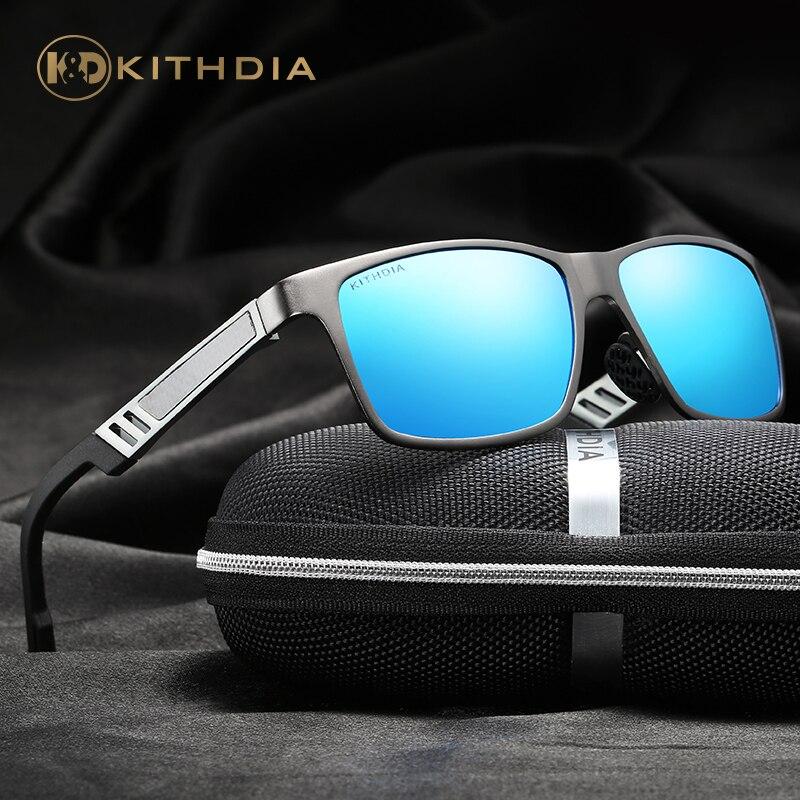 KITHDIA Marque Cadre En Aluminium lunettes de Soleil HD Polarisées Hommes Mâle Conduite lunettes de Soleil pour Hommes Vintage Lunettes De Soleil # KD6560