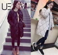 Down Coats long section of down jacket women loose large size cotton winter coat thickening wave