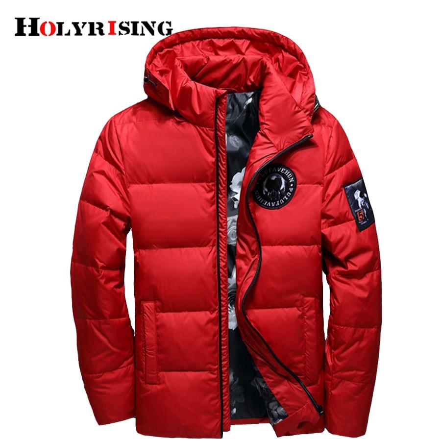 Holyrising jaqueta masculina dos homens para baixo Homens jaqueta de Inverno Dos Homens casaco com capuz para baixo casaco masculino inverno fino Pato Down18381