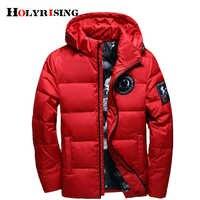 Holyrising jaqueta masculina jaqueta masculina com capuz para baixo casaco casaco masculino inverno inverno fino pato down18381