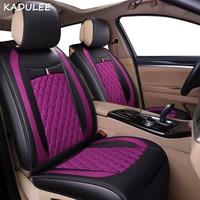 Чехол для автомобильного сиденья KADULEE для Fiat Grande Punto ssangyong dodge caliber suzuki, автомобильные аксессуары, автостайлинг, протектор для автомобильного