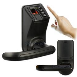 Nuevo Control de acceso LS911 negro LS9 biométrico de huellas dactilares contraseña cerradura de la puerta