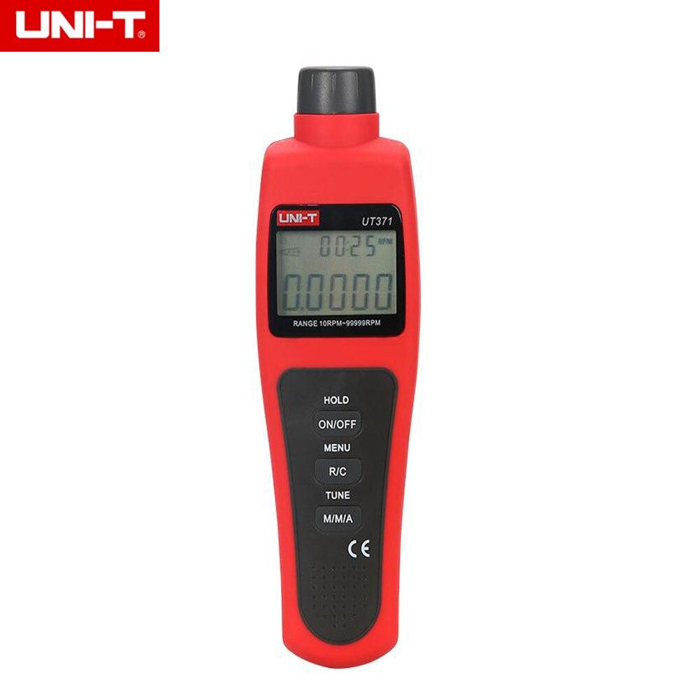 UNI-T UT371 tachymètre numérique sans Contact 0 ~ 99999 MAX/MIN/AVG Distance cible 5 ~ 20 cm Instruments de mesure de vitesse