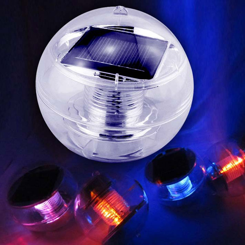 free shipping 100unitslot colors changing solar powered waterproof led pool floating light led night - Solar Halloween Decorations