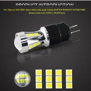 Image 3 - 오류 무료 hp24w g4 18smd 3030 12 v led 낮 실행 조명 전구 램프 시트로엥 c5 및 푸조 3008 led drl 빛, 흰색