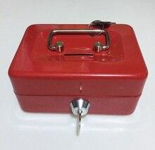 Key Mini caja fuerte de acero pequeño, cajas de almacenamiento de contenido, hucha de papel, tarjeta, portadocumentos