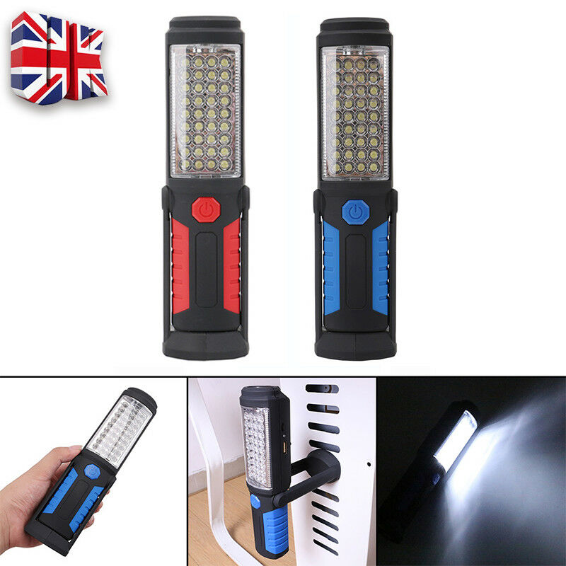 USB Rechargeable COB+LED Hand Torch Lamp Magnetic Inspection Work Light Flexible