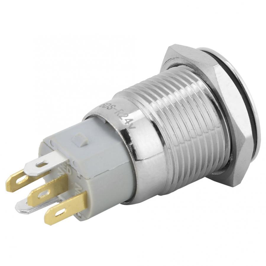 Беспроводной переключатель для выведения токсинов, 40 шт 16 мм, самофиксирующиеся металлическая кнопка переключатель 24 V светодиодный свет 5 контактный выключатели света прерыватель
