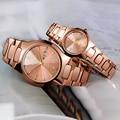 Luxus Männer Damenuhr Quarz Wasserdicht Wolfram Stahl Mode Liebe Männer und Frauen Uhren Automatische Kalender Relogio Masculino-in Partneruhren aus Uhren bei