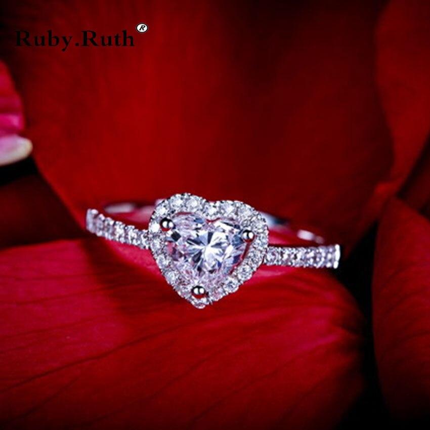 100% QualitäT Silber Farbe Ring Set Herz Form Cz Zirkon Design Ringe Hochzeit Ring Herzen Und Pfeile Zirkon Einlege Mode Luxus Schmuck Wasserdicht, StoßFest Und Antimagnetisch