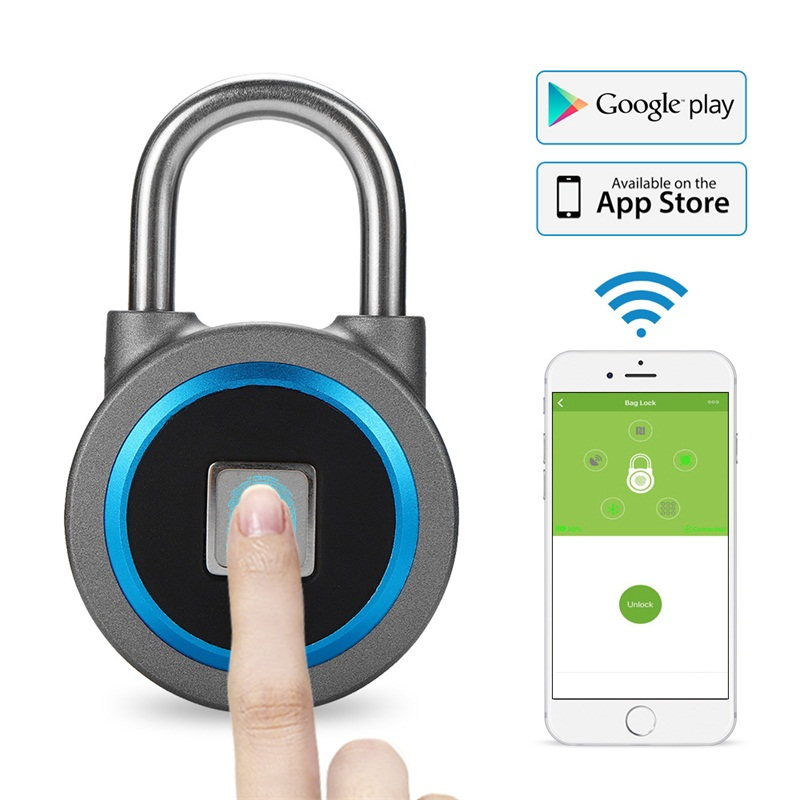 KERUI Waterproof Keyless Lock APP Management By Android And IOS Phone Smart Bluetooth Padlock Fingerprint Unlock Door PodLock