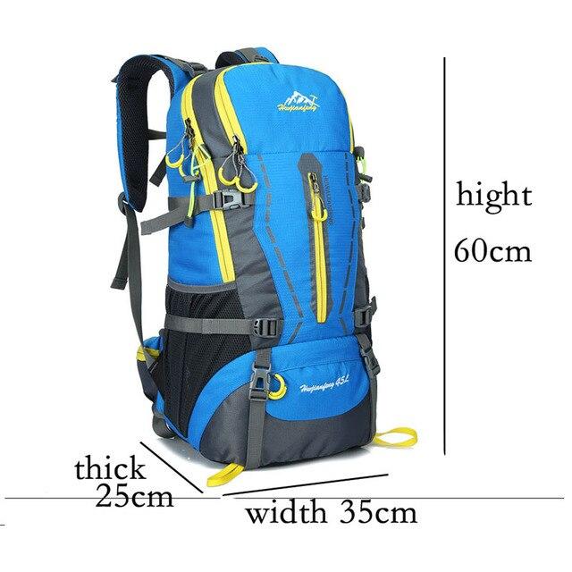 45L Outdoor Bags Backpacks Camping Hiking Traveling Mountain Backpack Sports Bag Sport Trekking Climbing Cycling Waterproof Bag 2