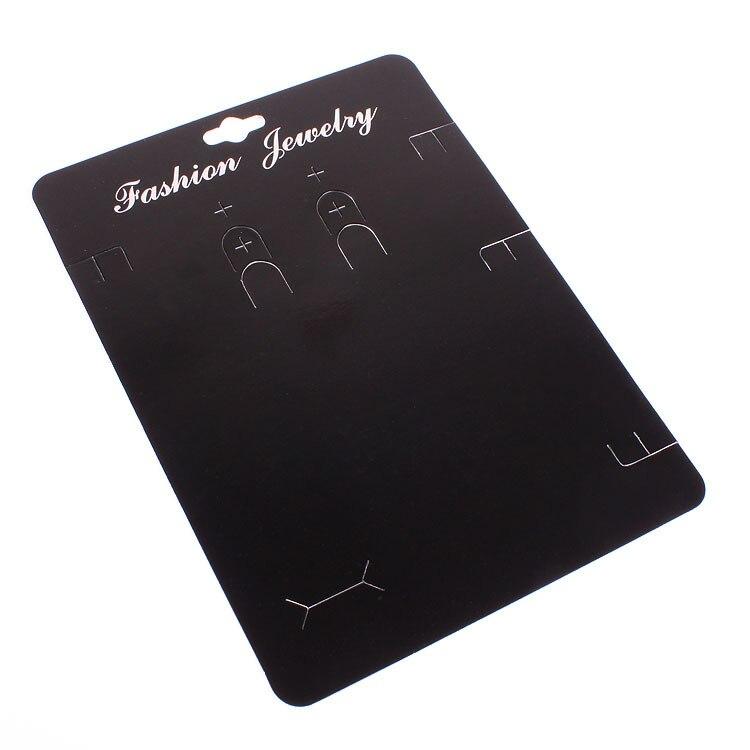 Image 2 - 100 ピースクラフトファッションジュエリービッグカードネックレス & イヤリング 14 × 19 センチ黒紙ハングタグジュエリーを表示カードジュエリー用包装 & ディスプレイ   -