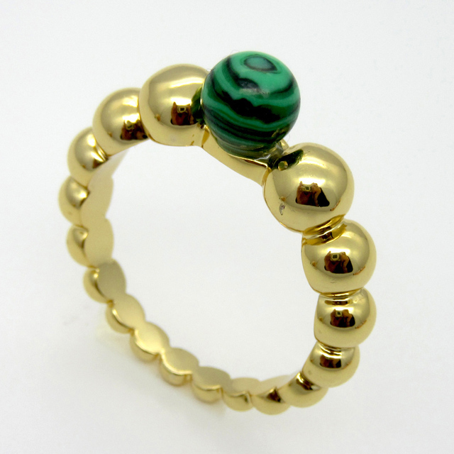 2015 Newest Hot Sell! Classic Fashion Jewelry Wavy Multicolor Agate Beads Inlaid Malachite Ring Birthday Gift For Women