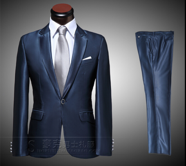 NEW Men's Business affairs FASHION Formal Dress Suit Sets Wedding Dress men silm Suits (suit+pant) / S-XL free shipping !