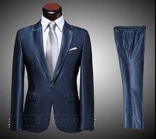 NEW Men's Business affairs FASHION Formal Dress Suit Sets Wedding Dress men silm Suits (suit+pant) / S-XL free shipping !