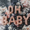 YORIWOO Baby Shower 16inch Oh Baby Foil Balloons It s Boy Or Girl Gender Reveal Rose