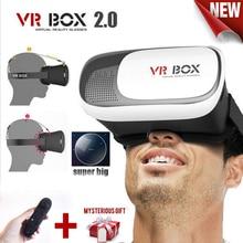 Google картон vr box 2 ii 2.0 vr очки 3d очки/Очки Виртуальной Реальности VR Гарнитура Для Смартфонов + Bluetooth Controlle