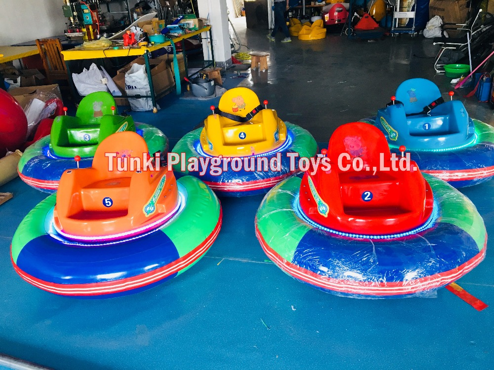 Colorful Small Inflatable Bumper Rotating Ride For Children