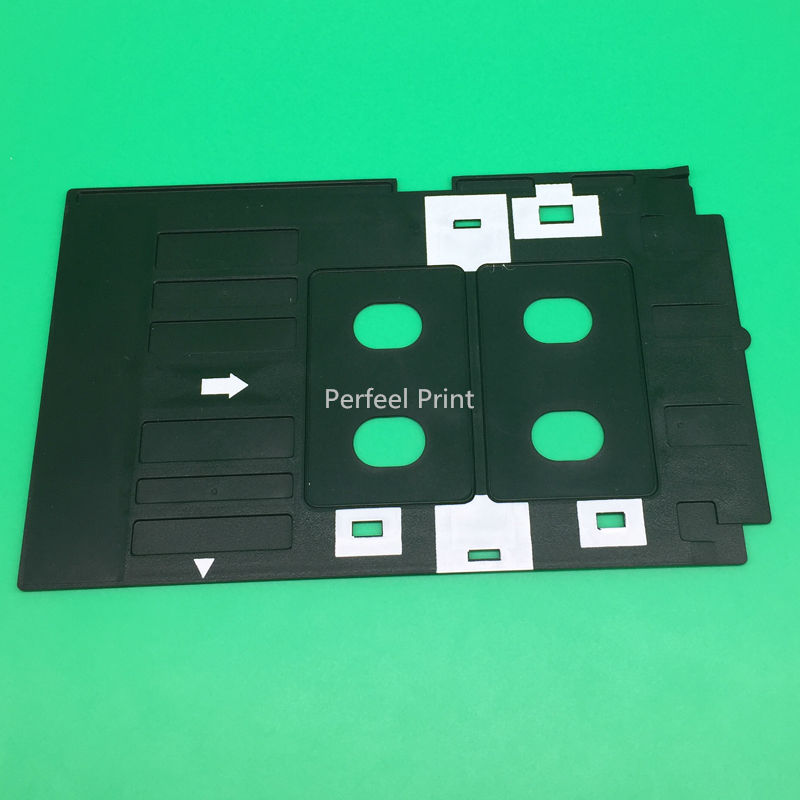 Printer Supplies 100 Pcs Glossy Pvc Card And 1 Pcs Card Tray For Epson R260 R265 R270 R280 R290 R380 R390 Rx680 T50 T60 A50 P50 L800 L801 R330