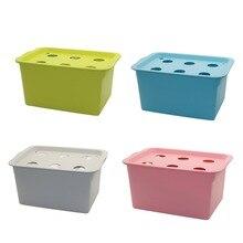 Hydroponics 6 Holes Nursery Pots Hydroponic System Kit Garden Pots Indoor Garden Cabinet Box Grow Kit Planters 220V/110V