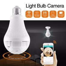 SANNCE LED Light 960P Wireless Panoramic IP Camera CCTV Security Fisheye Bulb Lamp WiFi Camera 360 Degree ONVIF Night Vision