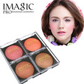 IMAGIC brand baked blush 4 colors Smooth Mineralize Makeup Blush Baked Cheek Color Blusher Palette Face Bronzer Cosmetic