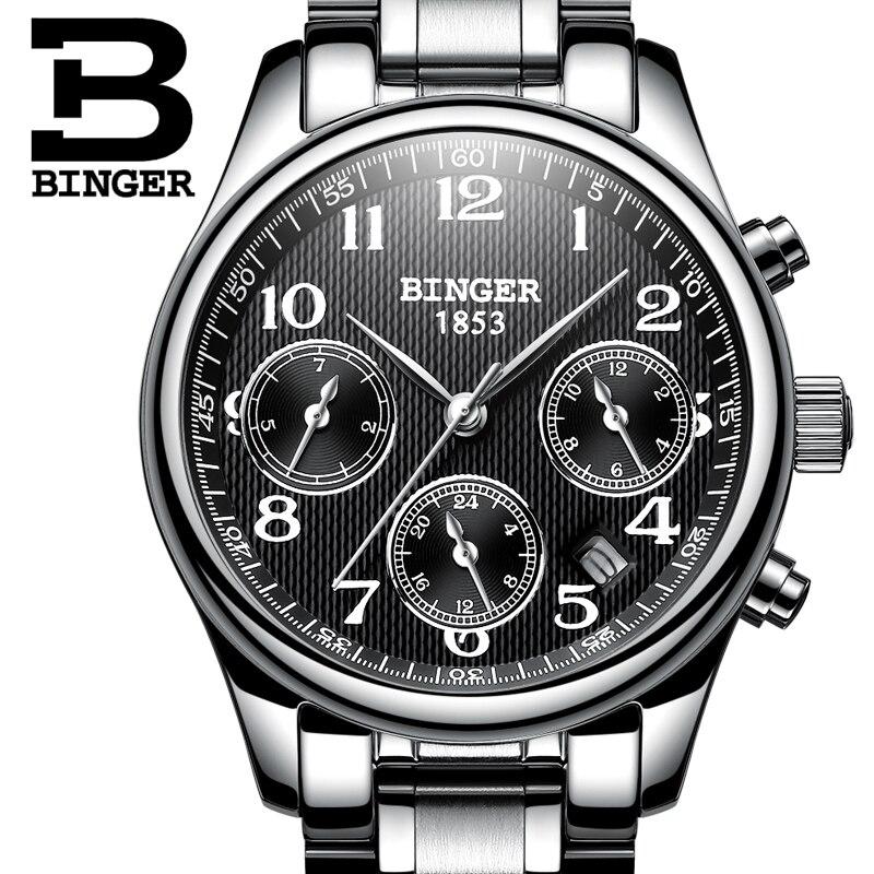 Switzerland BINGER Women Watches Luxury Brand Quartz Watch Women Waterproof Relogio Feminino Sapphire Clock Wristwatches B-603W2
