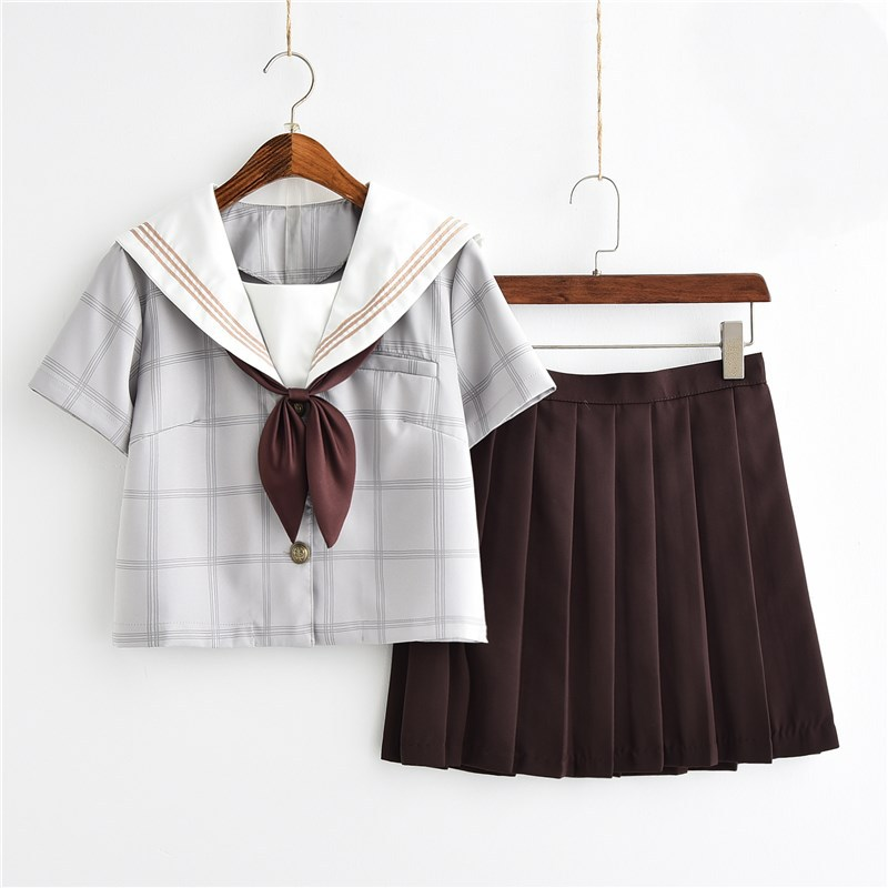 UPHYD Lolita Uniform School Girls Navy Sailor Suits S-2XL Sakura Japanese High School Chorus Cosplay Costumes Kawaii JK Unifroms