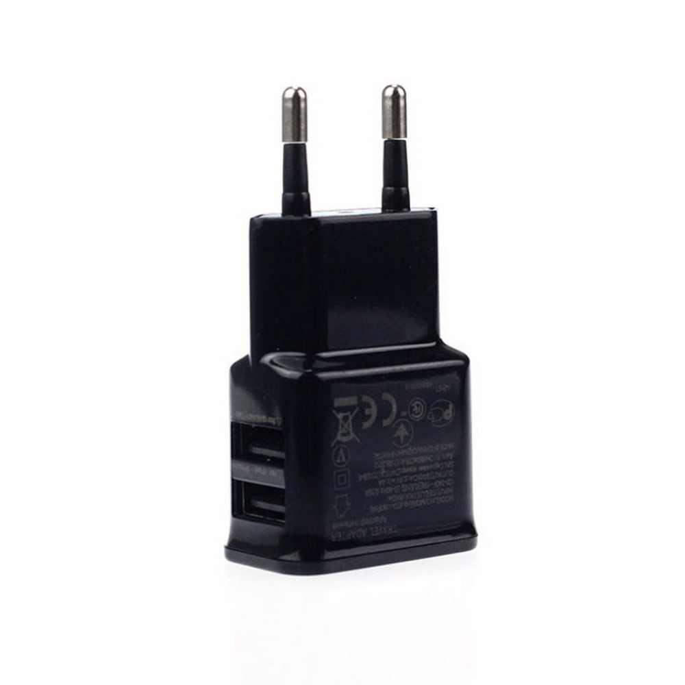 الاتحاد الأوروبي التوصيل 5 فولت 2A المزدوج USB العالمي شاحن الهاتف المحمول السفر السلطة مهايئ شاحن التوصيل شاحن آيفون ل أندرويد