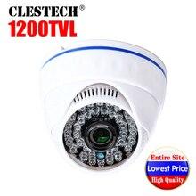 цена на Low Price Real 1200tvl Cmos HD CCTV Camera IR infrared Night Vision Wide Angle indoor HOME Dome security Surveillance vidicon