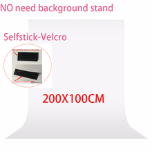 No need Stand kit 2x1meter Photography studio Screen Chroma key Backdrop Non Woven Green Photo background for Photo Studio