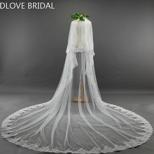 Luxury Long Bridal Wedding Veil Two Layer Cathedral Veils with Comb Party Hair Accessory