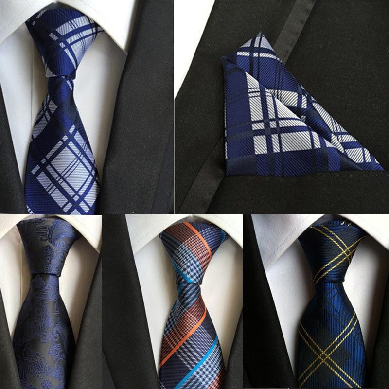 (1 kos / lot) 100% svilena kravata moški izrez kravato žep kvadratni komplet 2016 novo 8 cm poročna kravata Gravata za moške vitek vratu