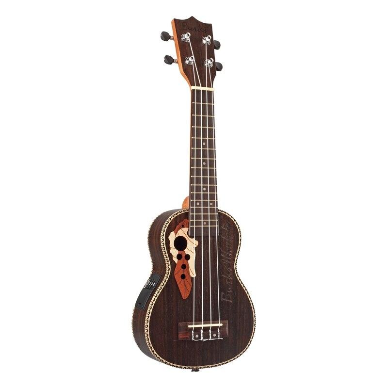 Burks ukulélé acoustique Ukelele épicéa ukulélé 4 cordes guitare avec égaliseur intégré pick-up cadeau de noël