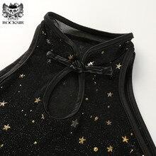 Glitter Stars Black Top