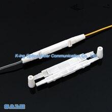 100 adet saplama kablo koruma kutusu fiber optik koruma kutusu küçük yuvarlak tüp ısı shrink boru korumak için fiber ekleme tepsisi