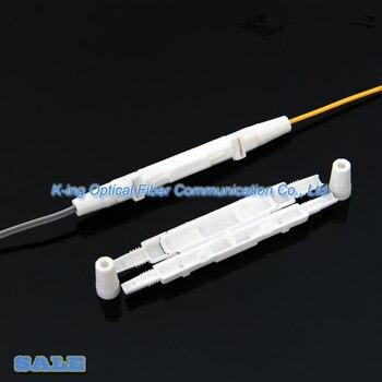 100 pcs Da Gota caixa de Protecção de caixa de proteção do cabo de fibra Óptica tubo tubulação do psiquiatra de calor para proteger a fibra splice redonda pequena bandeja