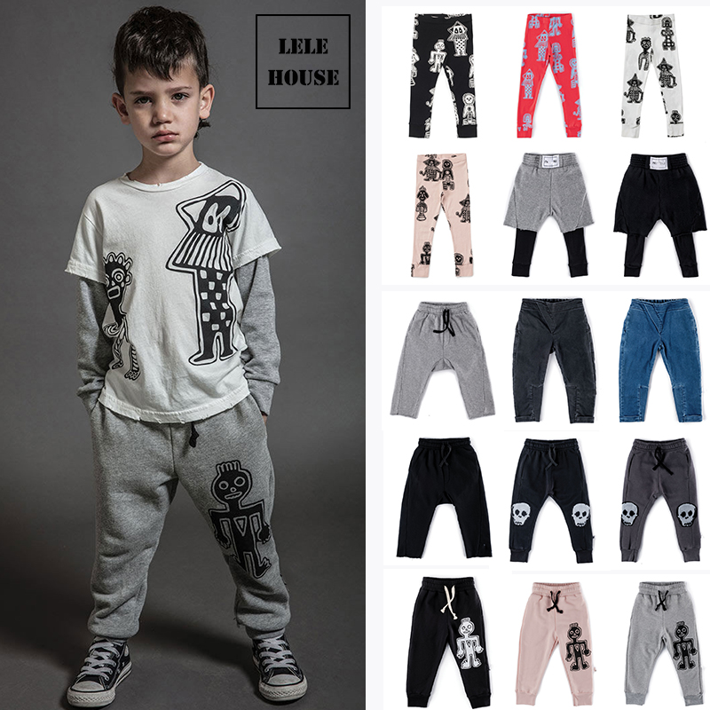 2019 Autumn New Arrival Baby Boys Pants Girls Painted Leggings Shipped At End of July Please Extend The Delivery Period
